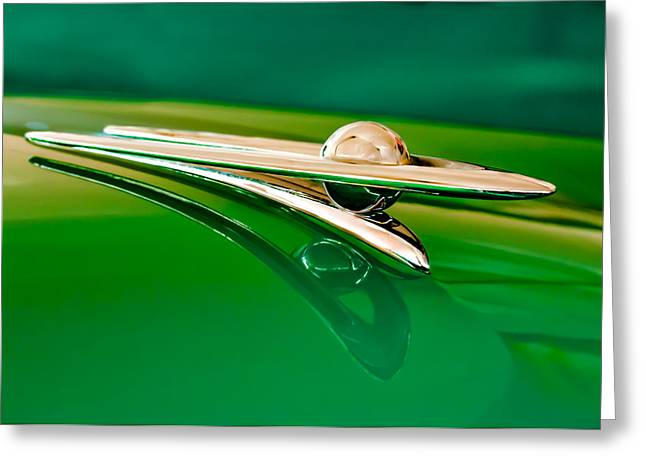 1955 Packard Clipper Hood Ornament 3 Greeting Card by Jill Reger