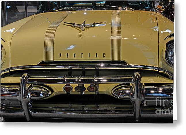 Chieftains Greeting Cards - 1955 Pontiac Chieftain Front Greeting Card by Paul Ward