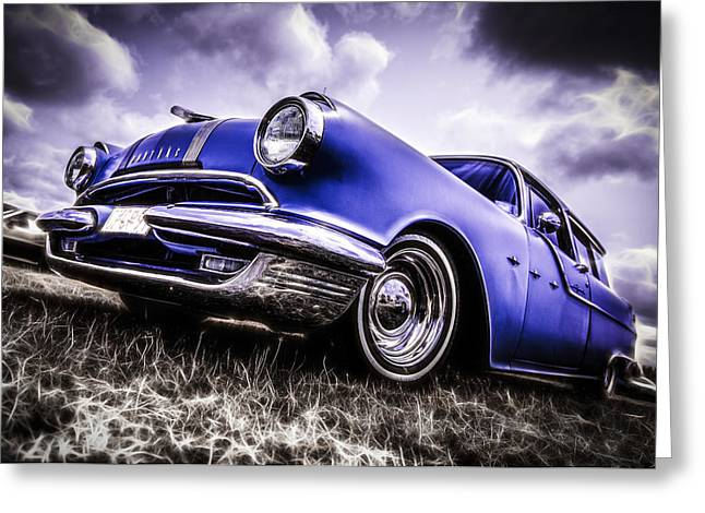Phil Motography Clark Greeting Cards - 1955 Pontiac Safari Greeting Card by motography aka Phil Clark