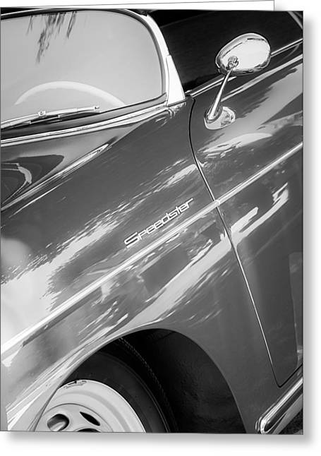 1955 Greeting Cards - 1955 Porsche 356 Speedster Greeting Card by Jill Reger