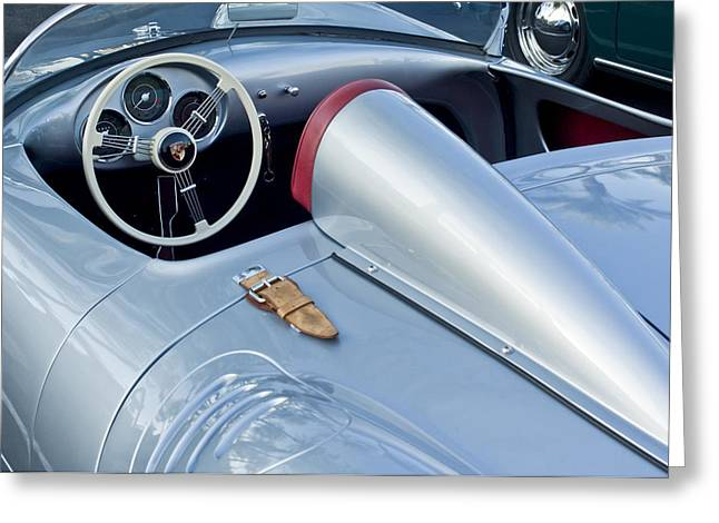 Car Photographers Greeting Cards - 1955 Porsche Spyder  Greeting Card by Jill Reger