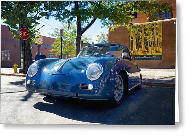Dereske Greeting Cards - 1956 356 A Sunroof Coupe Porsche Greeting Card by Mary Lee Dereske