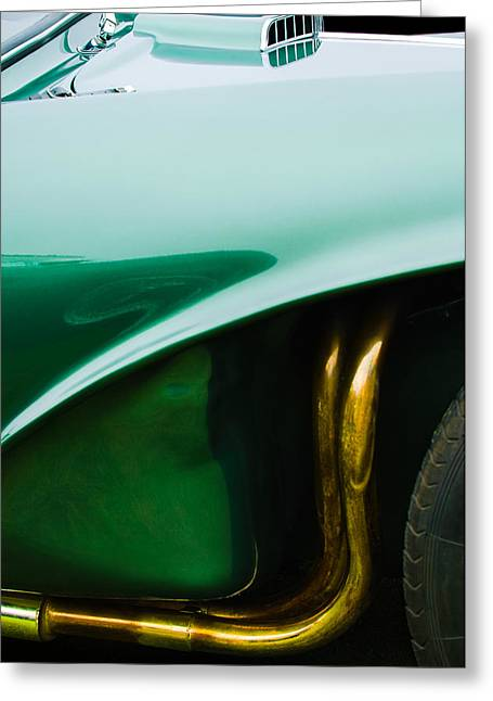 Fix Greeting Cards - 1956 Aston Martin DB3S Fixed Head Coupe Greeting Card by Jill Reger