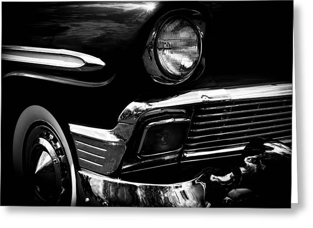 Radiator Badge Greeting Cards - 1956 Chevrolet Bel Air Greeting Card by David Patterson