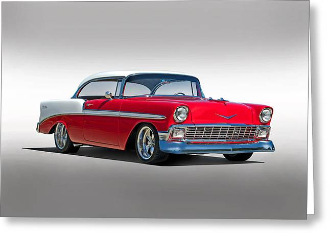 Custom Grill Greeting Cards - 1956 Chevrolet Bel Air Studio Greeting Card by Dave Koontz
