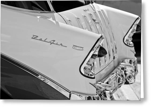 1956 Chevrolet Belair Nomad Rear End Taillights Greeting Card by Jill Reger