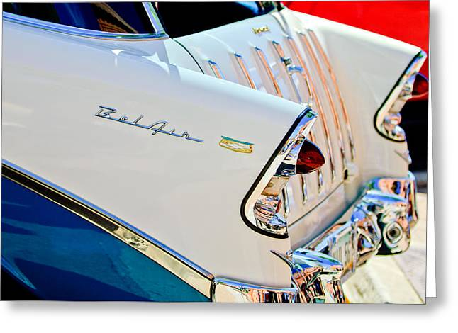 1956 Chevrolet Belair Nomad Taillights Greeting Card by Jill Reger