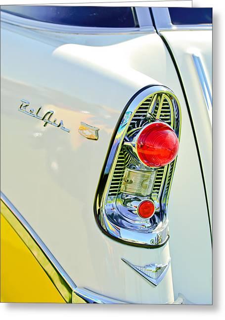 1956 Chevrolet Beliar Nomad Taillight Emblem Greeting Card by Jill Reger