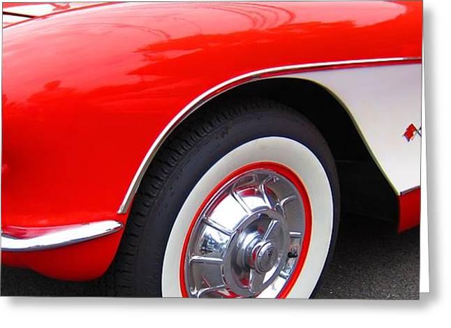 1956 Chevrolet Corvette Greeting Card by Sven Migot