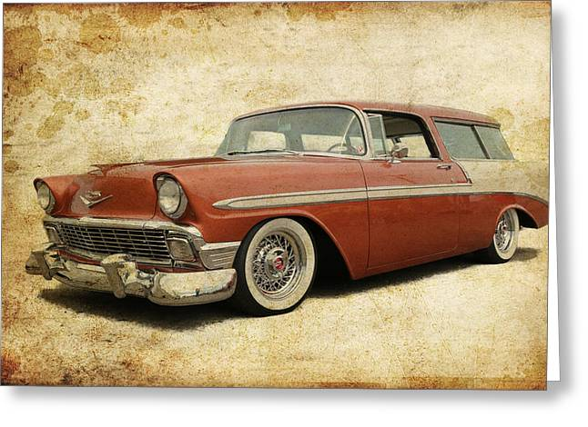 Fleetmaster Greeting Cards - 1956 Chevrolet Nomad Greeting Card by Steve McKinzie