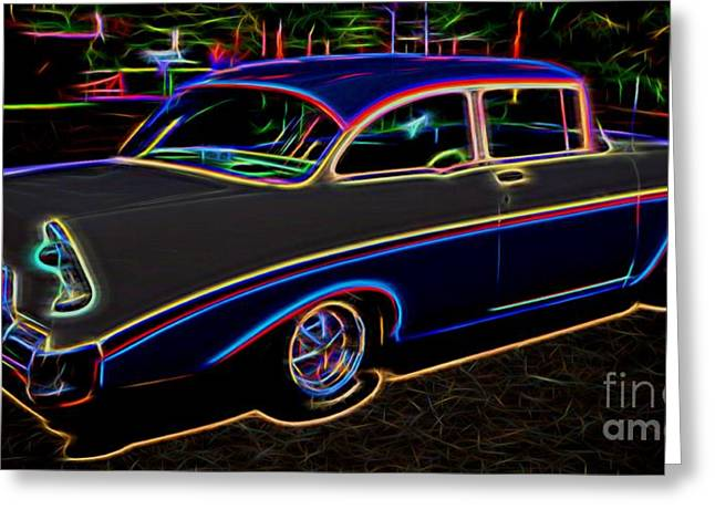 Valuable Greeting Cards - 1956 Chevy Bel Air - Classic Car  Greeting Card by Gary Whitton