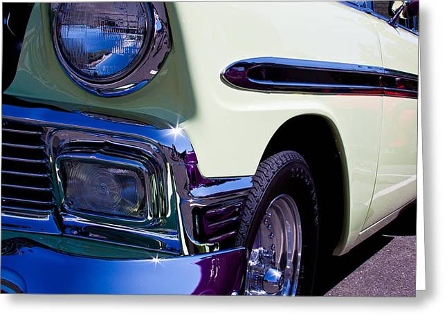 1956 Chevy Bel Air Custom Hot Rod Greeting Card by David Patterson