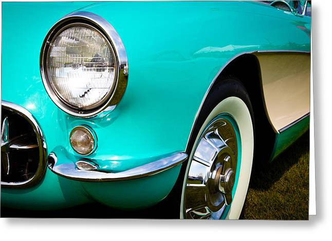 1956 Chevy Corvette Greeting Card by David Patterson