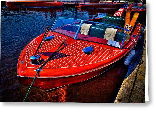 1956 Chris-craft Capri Classic Runabout Greeting Card by David Patterson