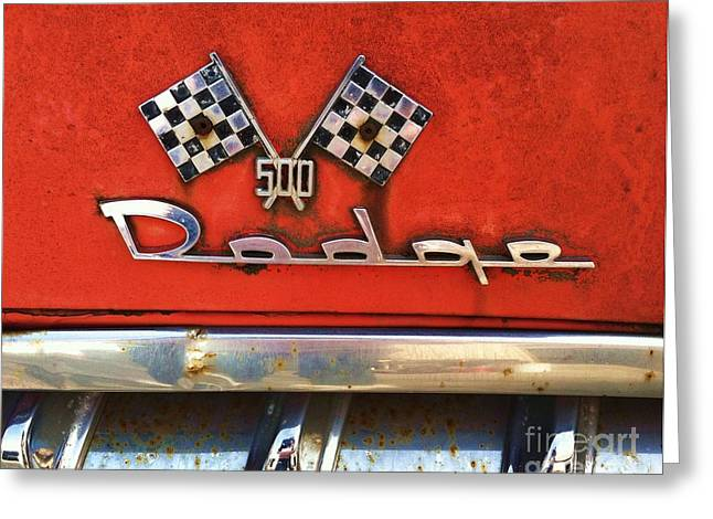 1956 Dodge 500 Series Photo 8b Greeting Card by Anna Villarreal Garbis