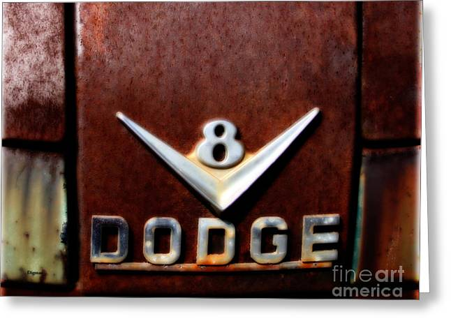 Old Pickup Greeting Cards - 1956 Dodge V8  Greeting Card by Steven  Digman