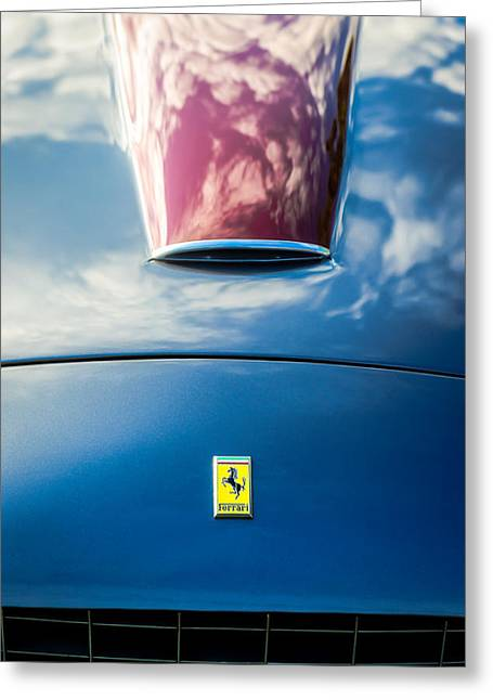 Ferrari 250gt Greeting Cards - 1956 Ferrari 250 GT Zagato Berlinetta Hood Emblem -0364c Greeting Card by Jill Reger