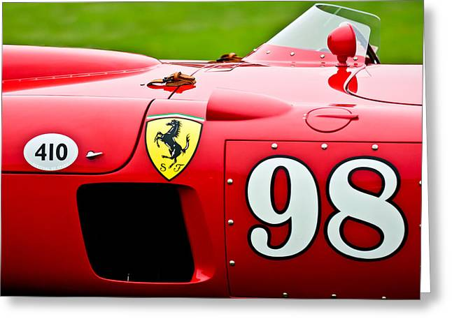 Pebbles Greeting Cards - 1956 Ferrari 410 Sport Scaglietti Spyder Greeting Card by Jill Reger