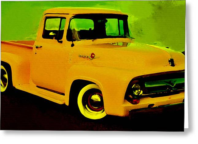 1956 Ford Truck Greeting Cards - 1956 Ford F-100 Greeting Card by Brian Reaves