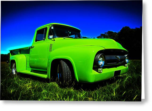 Aotearoa Greeting Cards - 1956 Ford F-100 Pickup Truck Greeting Card by motography aka Phil Clark