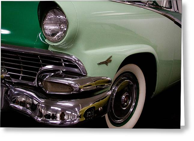 Mascots Greeting Cards - 1956 Ford Fairlane 2 Door Convertible Greeting Card by David Patterson