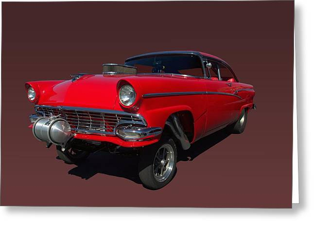1956 Ford  Pro Street Dragster Greeting Card by Tim McCullough