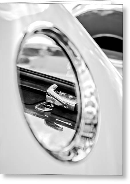 Latch Greeting Cards - 1956 Ford Thunderbird Latch -417bw Greeting Card by Jill Reger