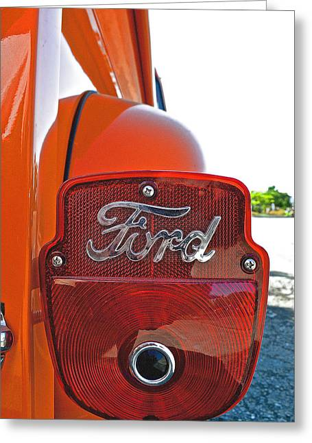 1956 Ford Truck Greeting Cards - 1956 Ford Truck Rear Taillight  Greeting Card by Bill Owen