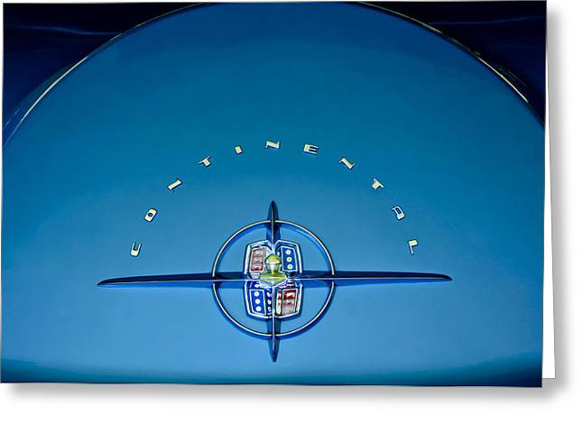 Collector Hood Ornament Greeting Cards - 1956 Lincoln Continental Mark II Emblem Greeting Card by Jill Reger