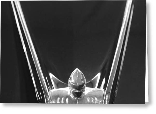 1956 Lincoln Premiere Convertible Hood Ornament 2 Greeting Card by Jill Reger
