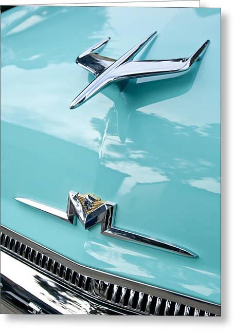 Monterey Greeting Cards - 1956 Mercury Monterey Hood Ornament Greeting Card by Jill Reger