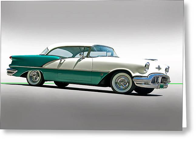 Family Car Greeting Cards - 1956 Oldsmobile Rocket 88 Greeting Card by Dave Koontz