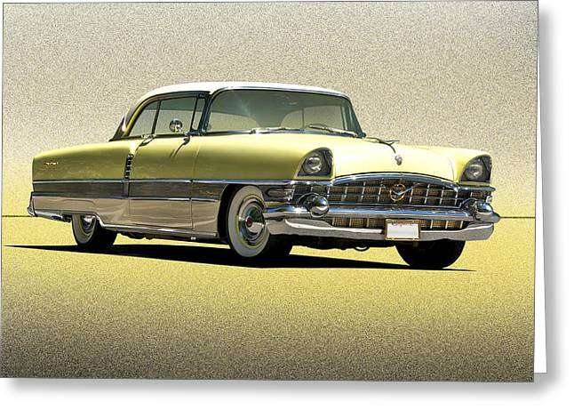 Family Car Greeting Cards - 1956 Packard The Four Hundred Greeting Card by Dave Koontz