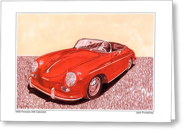 Continuing Greeting Cards - 1956 Porsche 356 Cabriolet Greeting Card by Jack Pumphrey