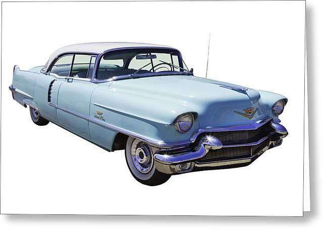 Stylish Car Greeting Cards - 1956 Sedan Deville Cadillac Luxury Car Greeting Card by Keith Webber Jr