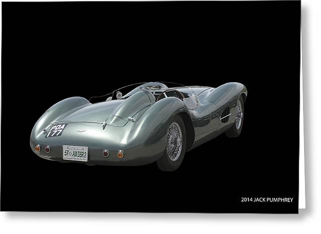 Paint Photograph Greeting Cards - 1957 Aston Martin Rear Greeting Card by Jack Pumphrey