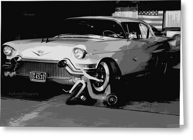 Toy Shop Greeting Cards - 1957 Cadillac Greeting Card by Kip Krause