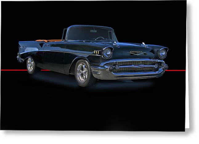 Slam Greeting Cards - 1957 Chevrolet Bel Air Convertible Greeting Card by Dave Koontz