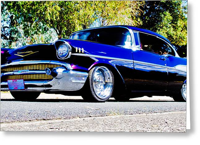 Aotearoa Greeting Cards - 1957 Chevrolet Bel Air Greeting Card by Phil