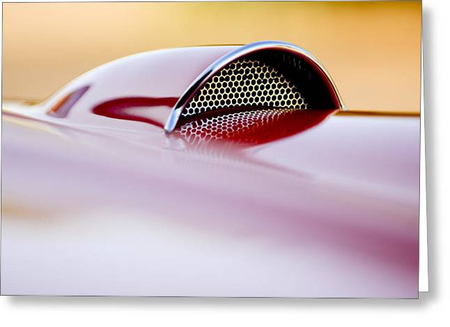 Car Details Greeting Cards - 1957 Chevrolet Corvette Convertible Scoop Greeting Card by Jill Reger