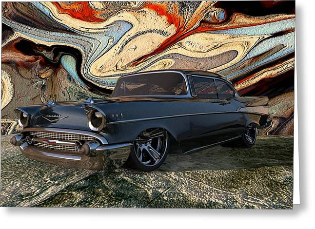 Louis Ferreira Art Greeting Cards - 1957 Chevy Bel Air Greeting Card by Louis Ferreira