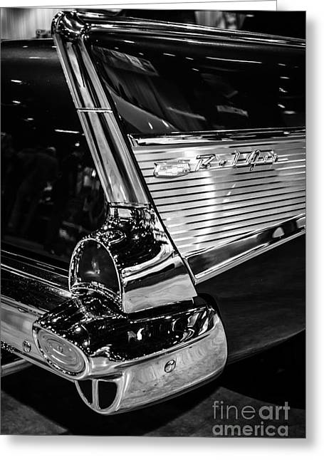 1957 Chevy Bel Air Tail Fin Greeting Card by Paul Velgos