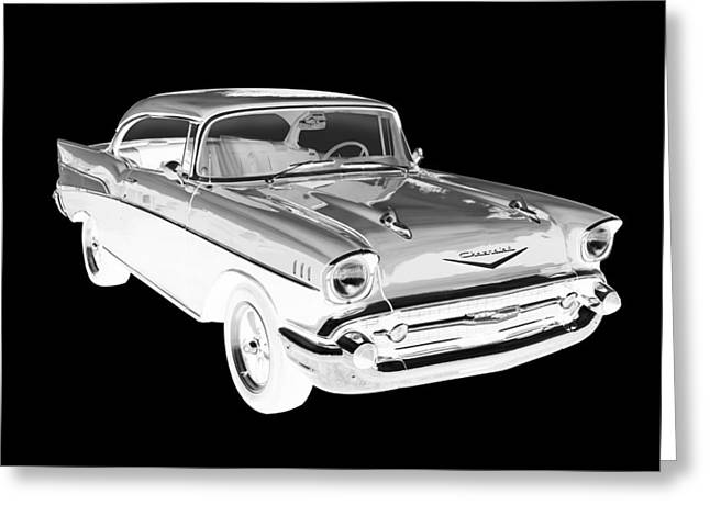 1957 Chevy Belair Car Art Greeting Card by Keith Webber Jr