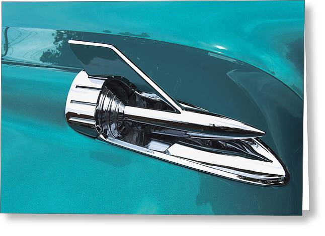 Ron Roberts Photography Greeting Cards Greeting Cards - 1957 Chevy Hood Greeting Card by Ron Roberts