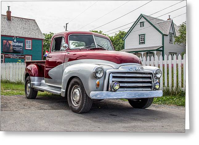 Subcompact Greeting Cards - 1957 Chevy Pickup Greeting Card by Crystal Fudge