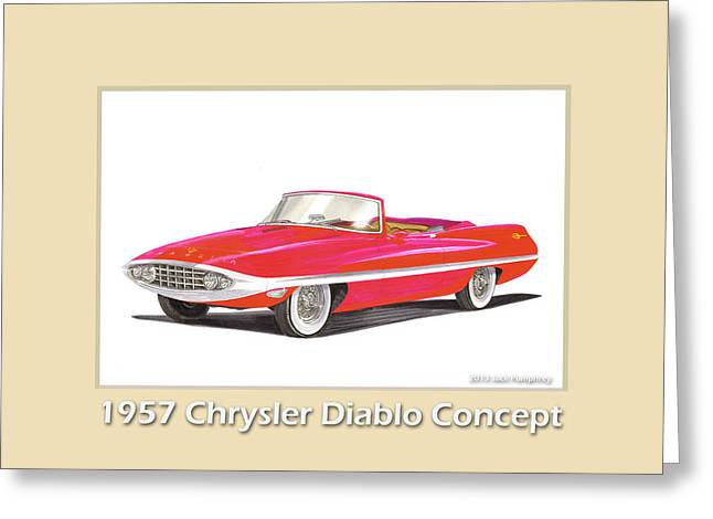 1957 Chrysler Diablo Convertible Coupe Greeting Card by Jack Pumphrey