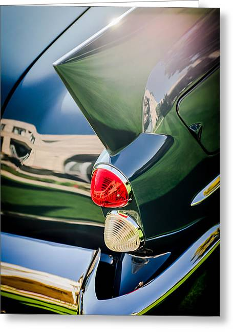 Dual Greeting Cards - 1957 Dual Ghia Sport Taillight Greeting Card by Jill Reger