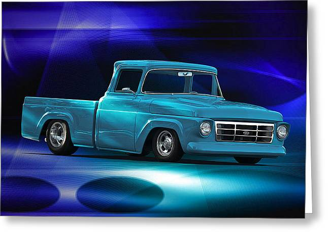 1957 Ford F100 Pick Up Greeting Card by Dave Koontz