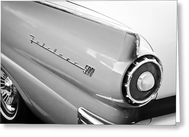 Fairlane Greeting Cards - 1957 Ford Fairlane 500 Taillight Emblem Greeting Card by Jill Reger