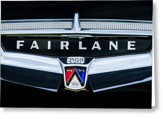 Fairlane Greeting Cards - 1957 Ford Fairlane Convertible Emblem Greeting Card by Jill Reger